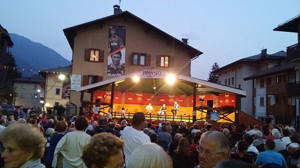Totti in piazza a Pinzolo