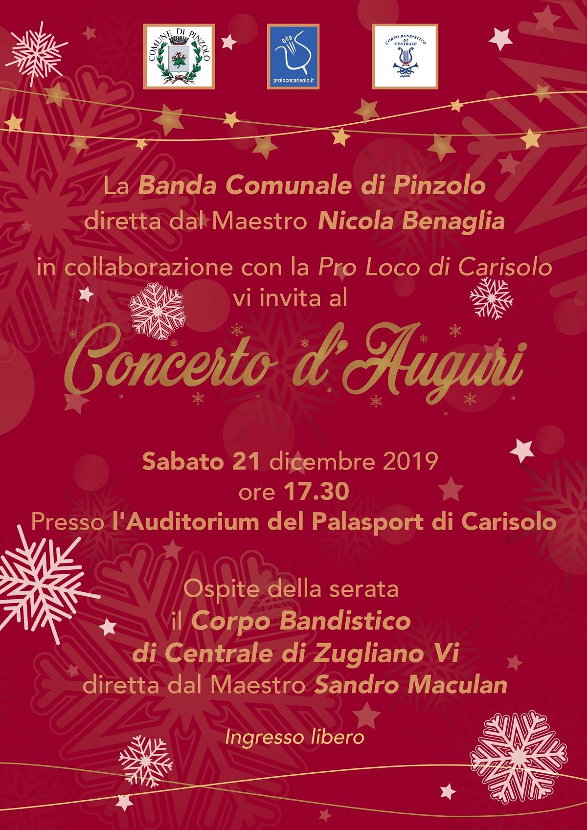 Concerto della Banda Comunale di Pinzolo, sabato 21 alle ore 17e30 presso il teatro di Carisolo