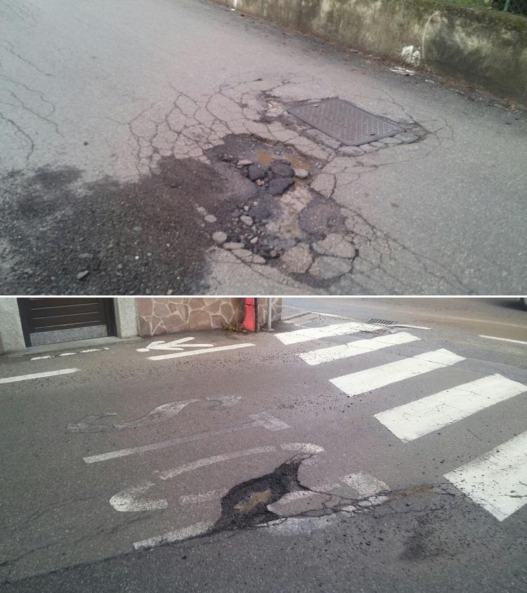 Buche nelle strade di Pinzolo