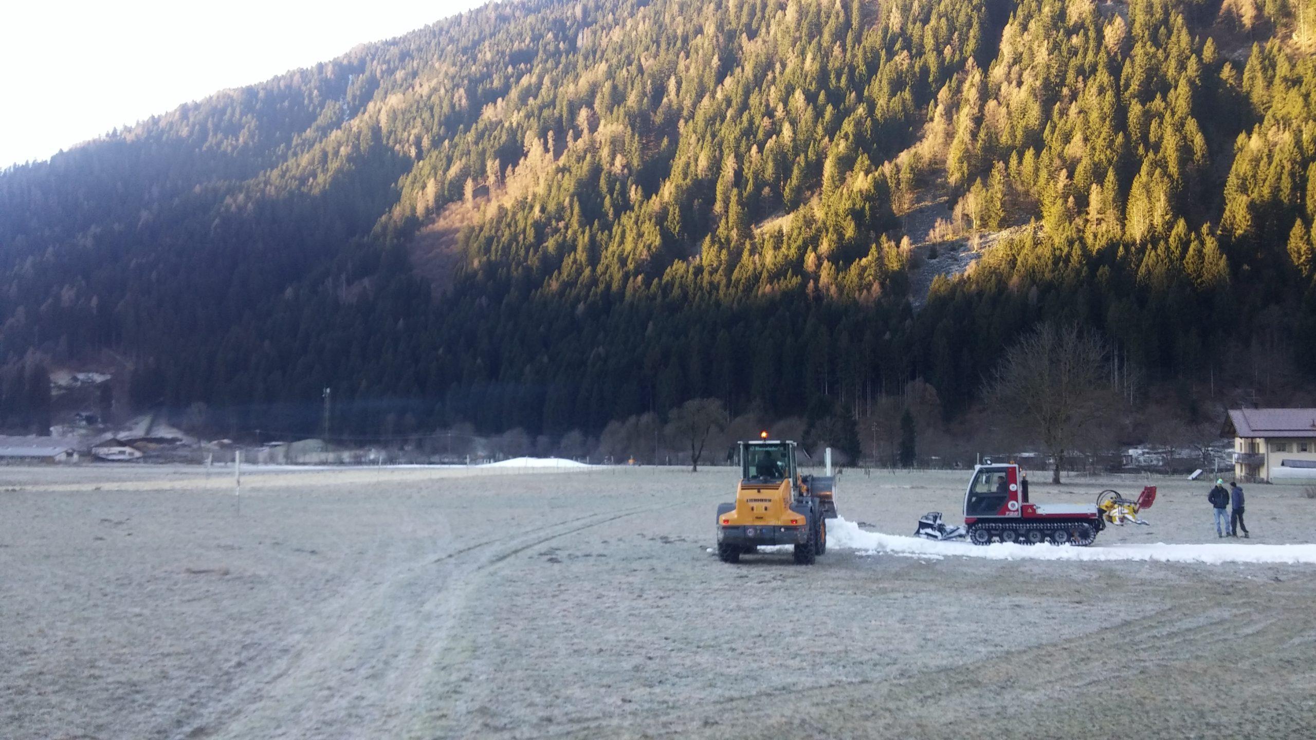 Iniziati i lavori di preparazione della pista da fondo a Carisolo