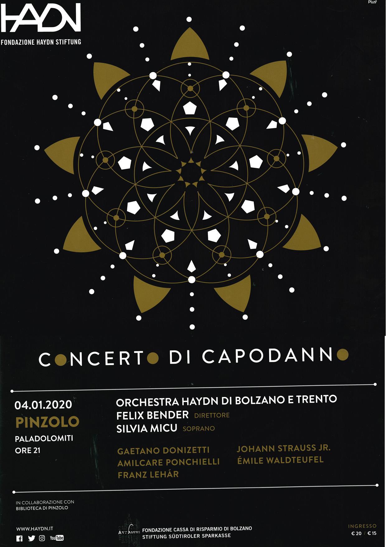 Concerto Haydn al Paladolomiti – 4 gennaio 2020