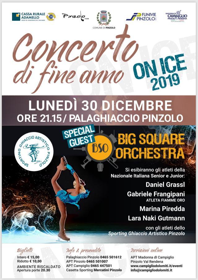 Concerto di Fine anno On Ice 2019 – 30 dicembre Palaghiaccio Pinzolo