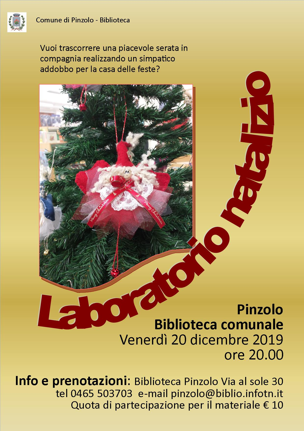 20 dicembre 2019 – Laboratorio natalizio