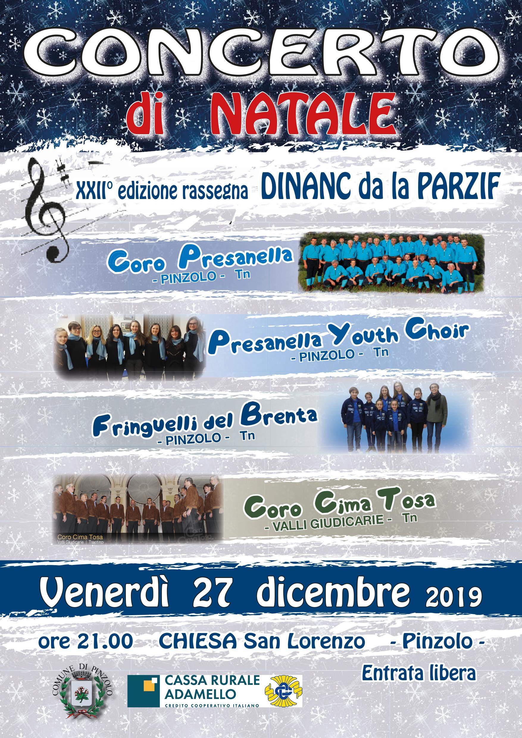 Concerto di Natale 27 dicembre – DINANC da la PARZIF