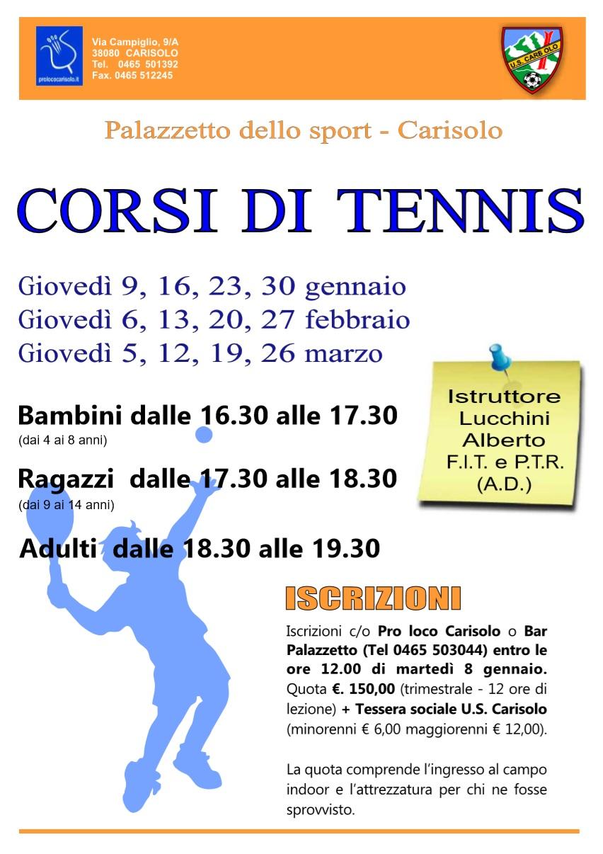 Corsi di Tennis al Palazzetto dello Sport