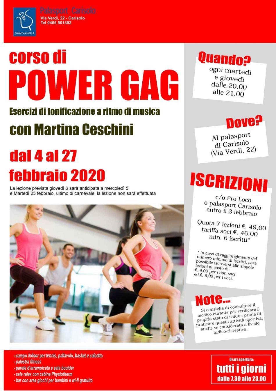 Corso di Power Gag al Palazzetto dello sport di Carisolo