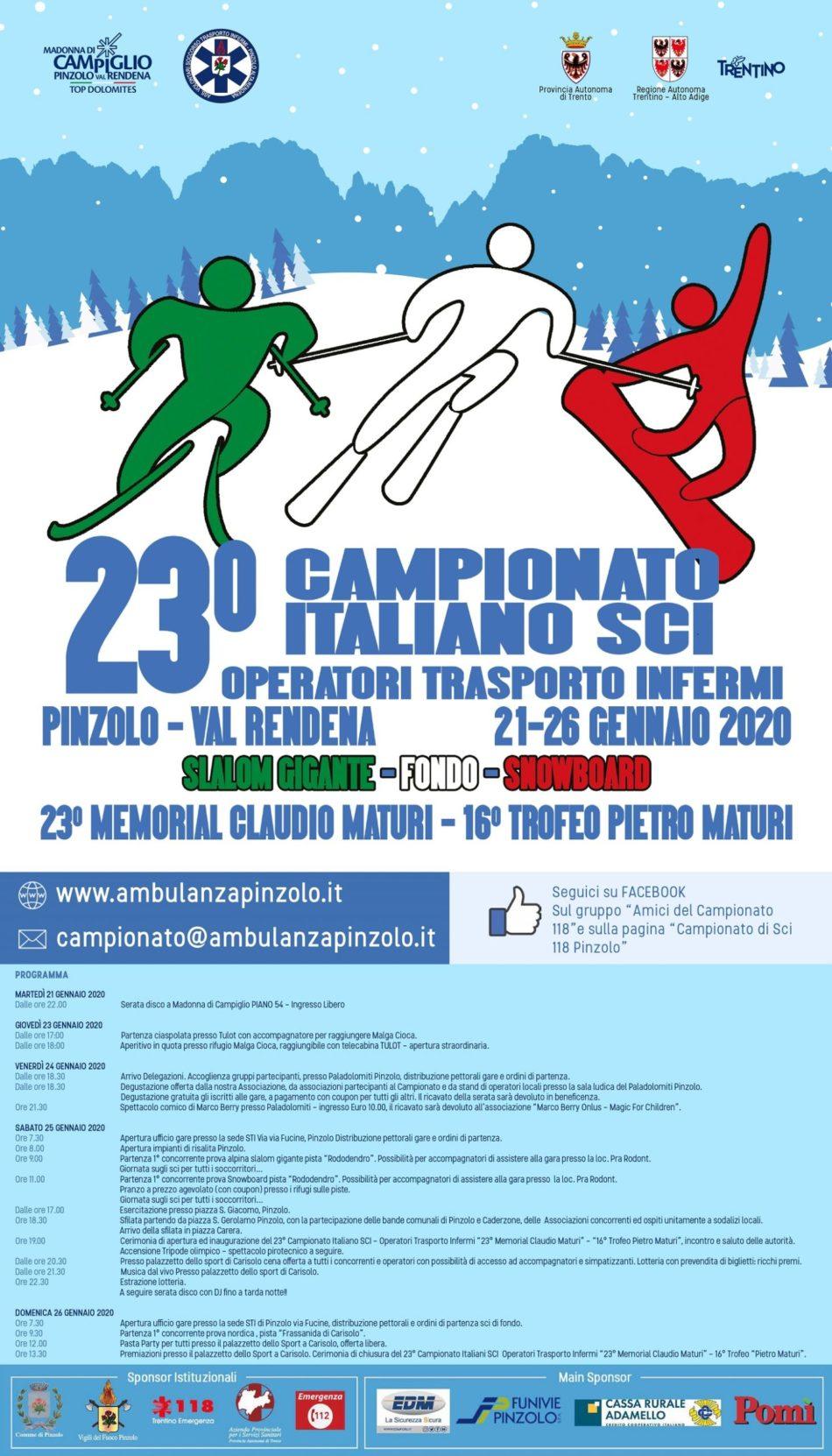 23° Campionato Italiano Sci Operatori Trasporto Infermi