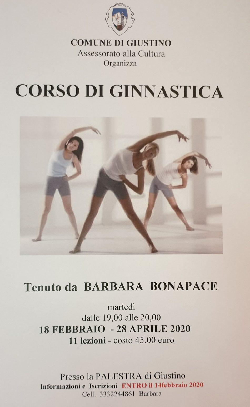 Corso di Ginnastica tenuto da Barbara Bonapace