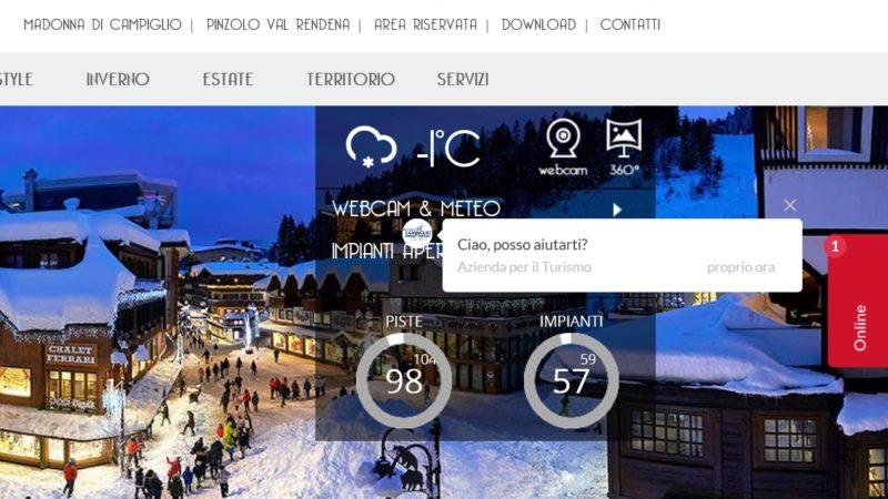 """L'Apt Campiglio sta sperimentando un nuovo servizio """"chat"""" riservato a turisti e operatori"""