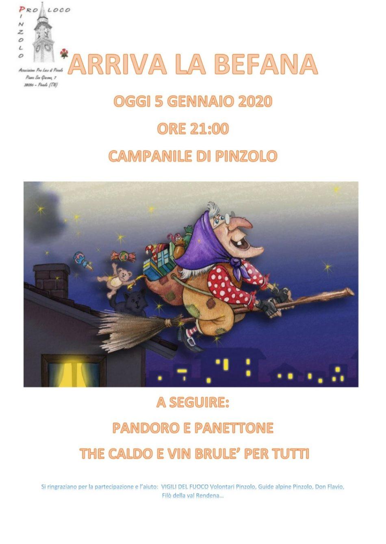 Arriva la Befana dal Campanile di Pinzolo, stasera alle 21