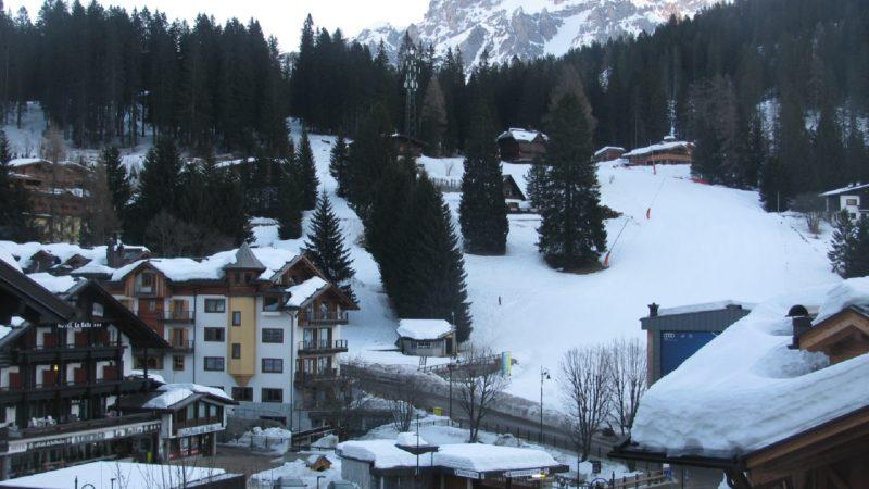 Non nevica da più di un mese ma il paesaggio e le piste sono ancora perfette