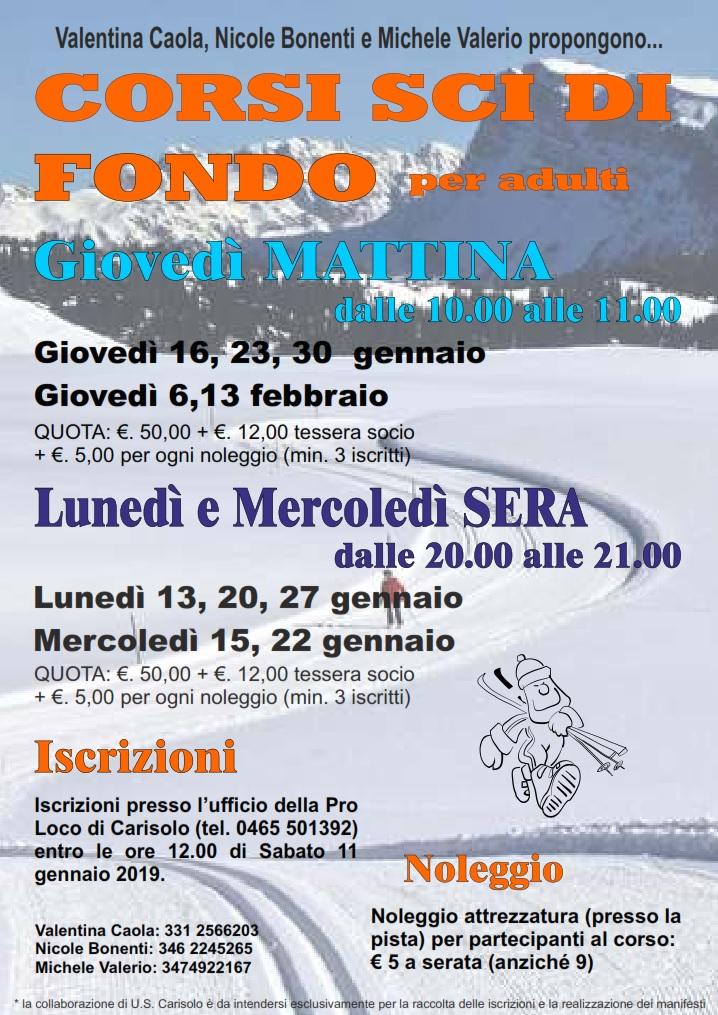 Carisolo: Corso di sci da fondo per adulti