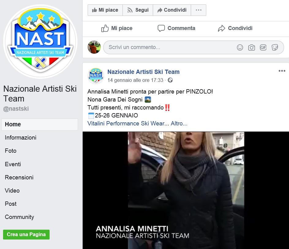 A Pinzolo il Camp dei Sogni organizzato dalla Nazionale Artisti Ski Team