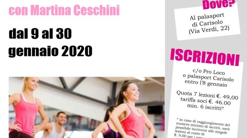 Dal 9 gennaio, presso il palasport di Carisolo partirà un nuovo corso di POWER GAG con l'istruttrice Martina Ceschini