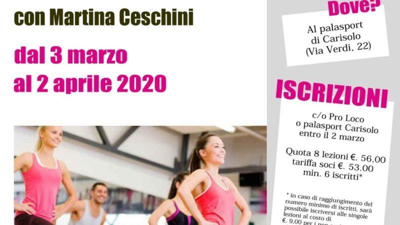 Corso di Power Gag – Esercizi di tonificazione a ritmo di musica con Martina Ceschini