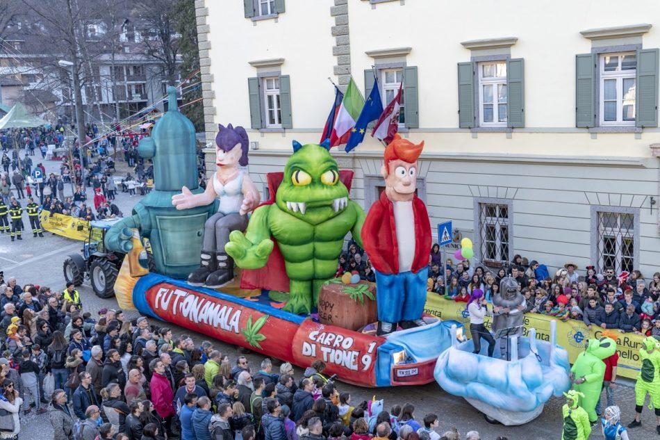 Al Gran Carnevale Giudicariese divertimento, musica e… un'ospite d'eccezione