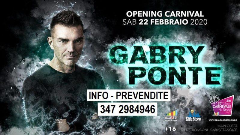 Il CoronaVirus fa saltare il concerto di Gabry Ponte, evento clou del Carnevale Storo