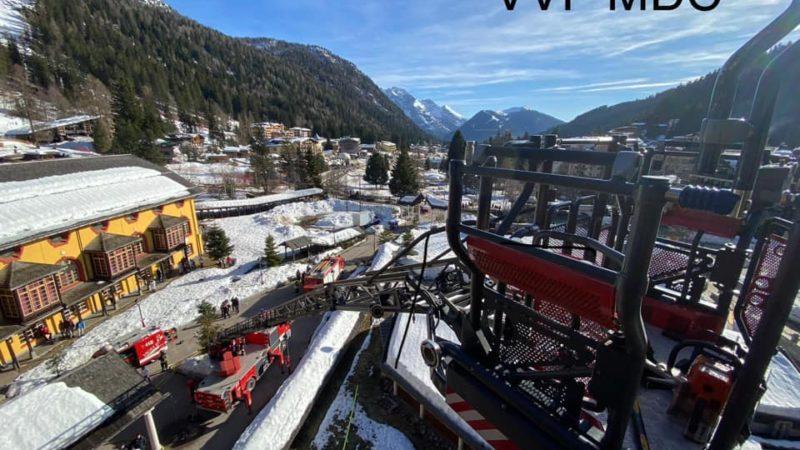 """L'incendio all'hotel """"Des Alpes"""" prontamente domato grazie all'intervento dei Vigili di Campiglio"""