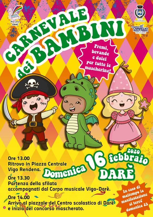 Carnevale dei Bambini a Darè – Domenica 16 febbraio