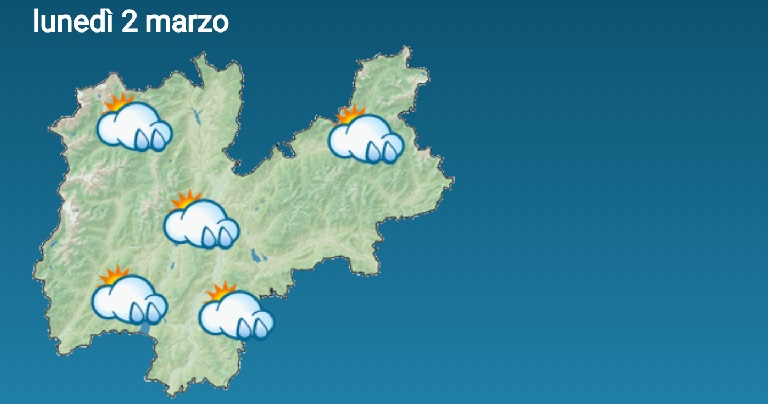 Il tempo sta cambiando: per lunedì sono previste precipitazioni nevose abbondanti e diffuse anche a quote basse