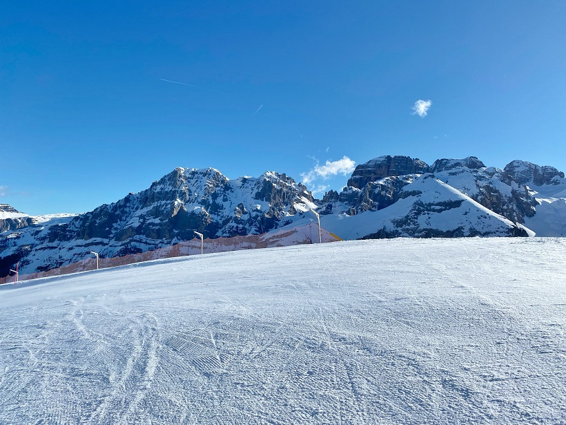 Ecco le immagini delle piste di Pinzolo, Campiglio e Folgarida-Marilleva postate nella pagina facebook della Skiarea