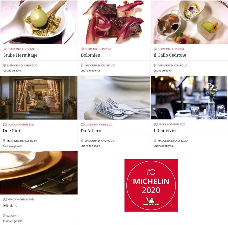 """Guida Michelin 2020: confermati gli stellati di Campiglio e quattro ristoranti con """"Il Piatto MICHELIN"""""""