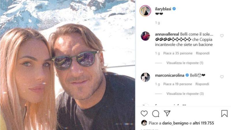 Francesco Totti e Ilary Blasi in vacanza con i figli a Madonna di Campiglio