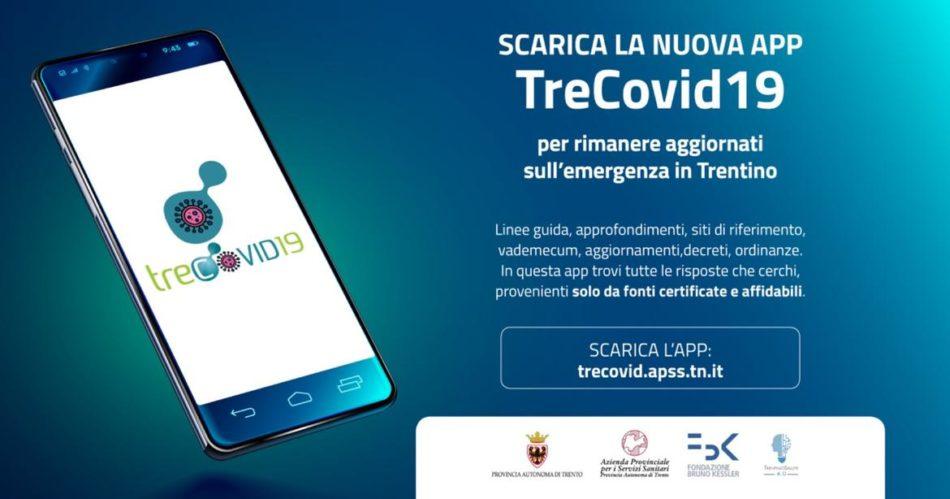 TreCovid19, la App per per i cittadini per tenersi aggiornati sull'emergenza coronavirus in Trentino