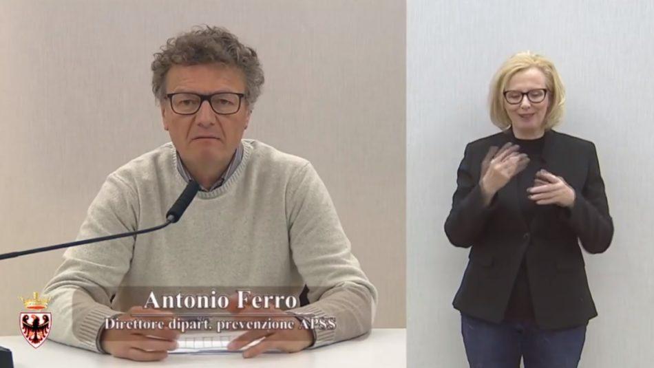 Situazione ancora allarmante: 121 (76 con tampone e 45 non tamponati) i nuovi casi, per un totale di 2122 persone contagiate in Trentino