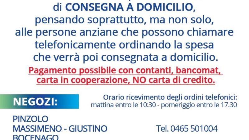 La Famiglia Cooperativa Pinzolo ha attivato uno speciale servizio di CONSEGNA A DOMICILIO