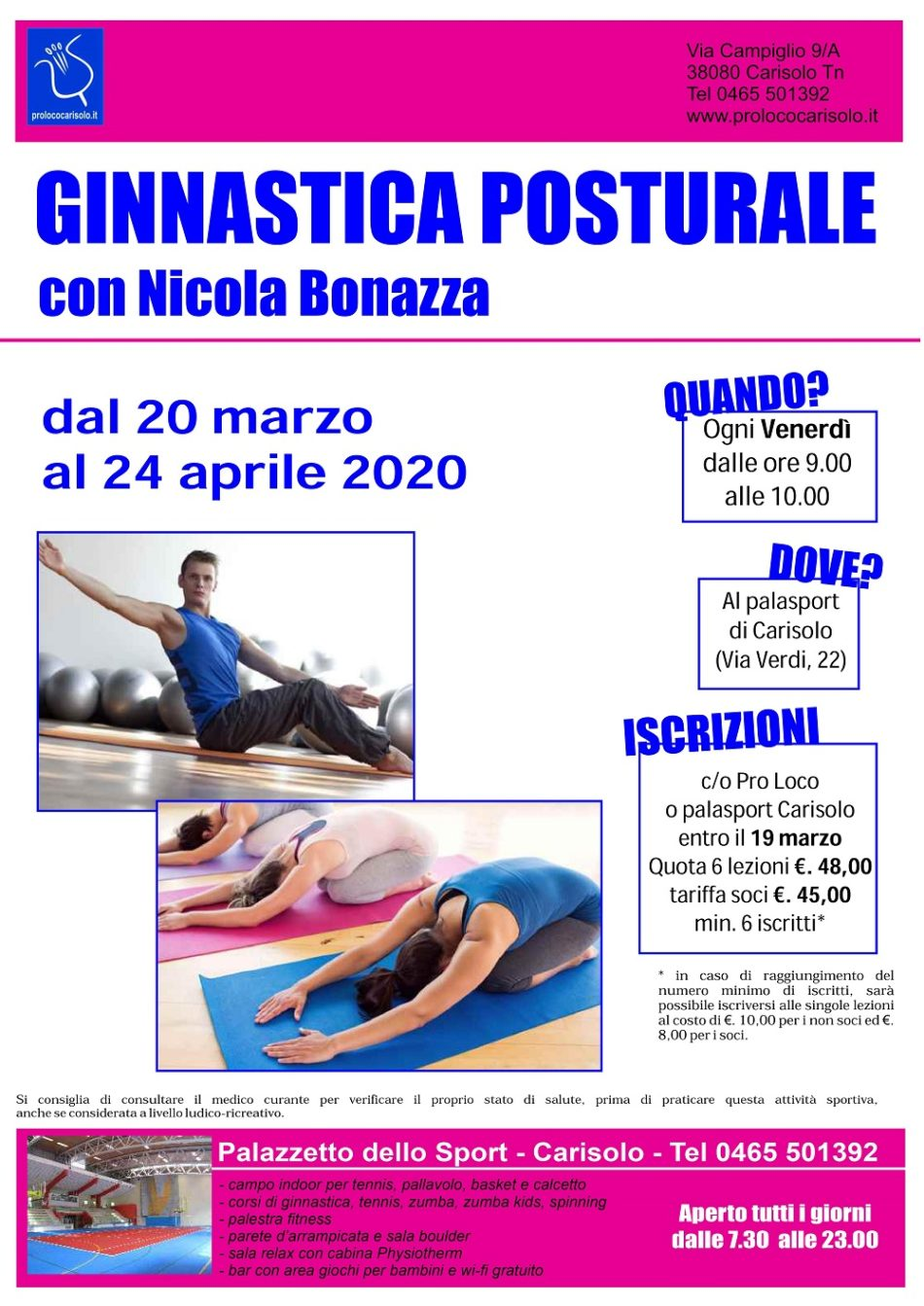 Corso di GINNASTICA POSTURALEcon Nicola Bonazza
