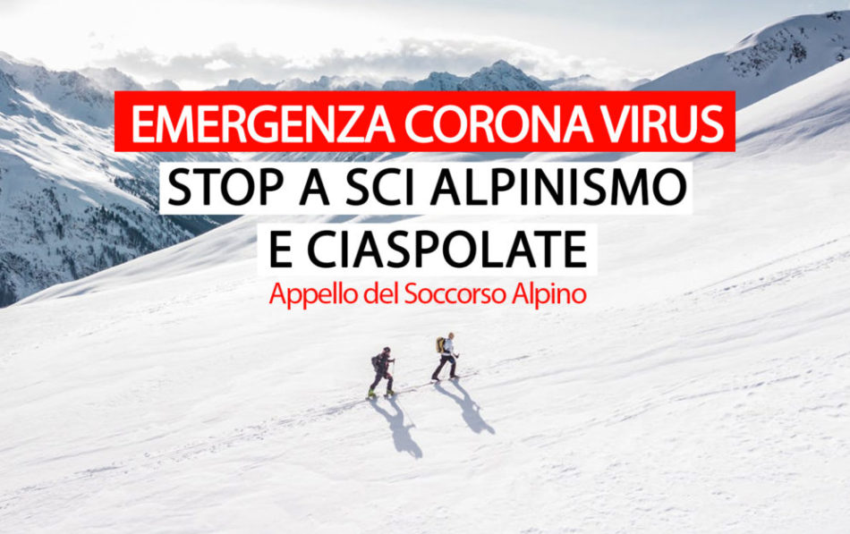"""L'appello del Soccorso Alpino Nazionale: """"Ci sarà tempo per andare in montagna. Ora è il momento di #stareacasa"""""""