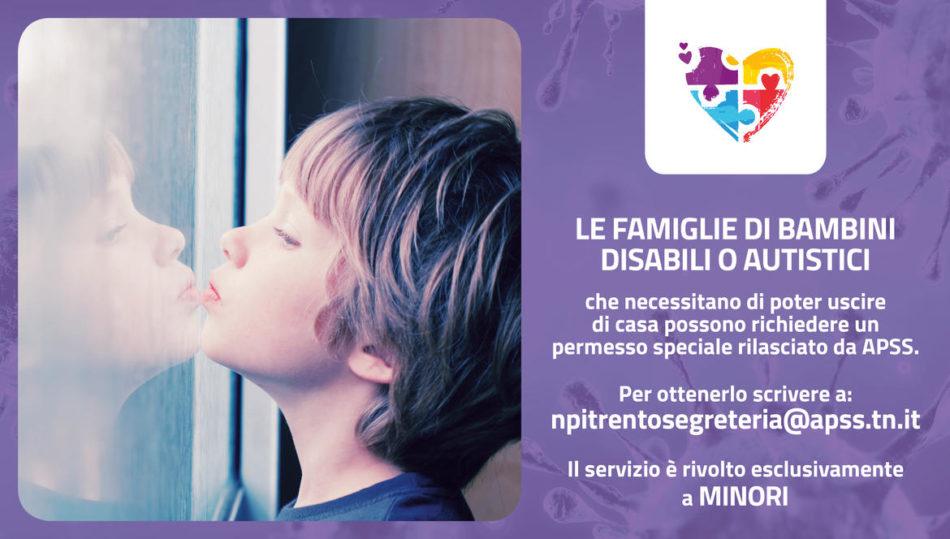 Permessi speciali per minori disabili o autistici