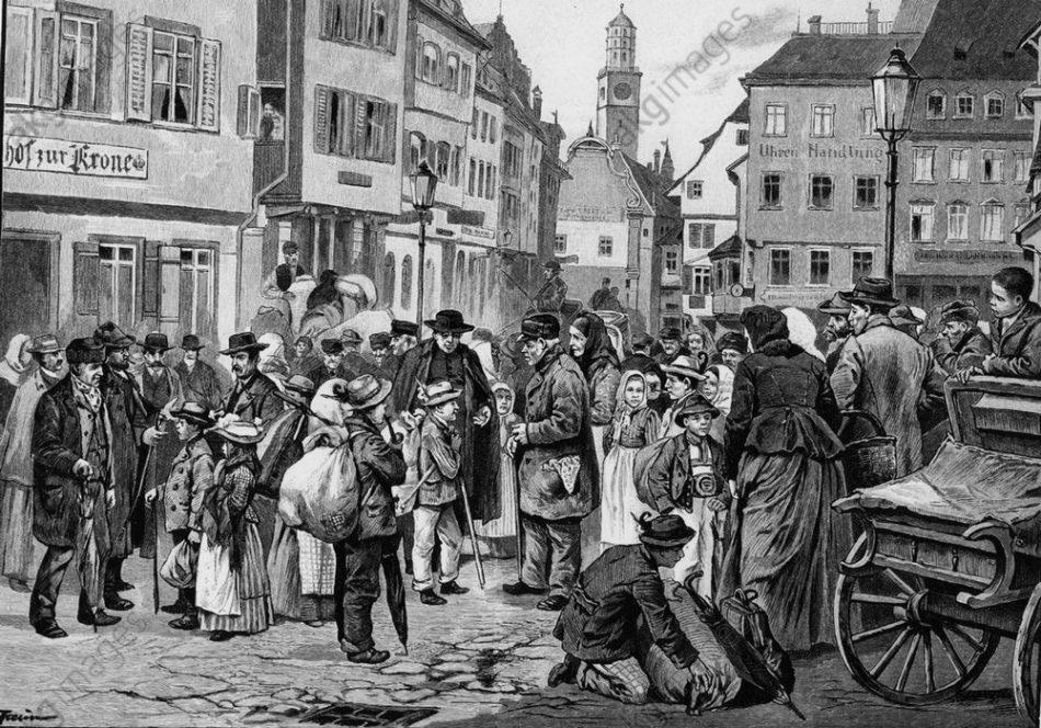 """Il """"mercato"""" dei bambini a Ravensburg (fine Ottocento)"""