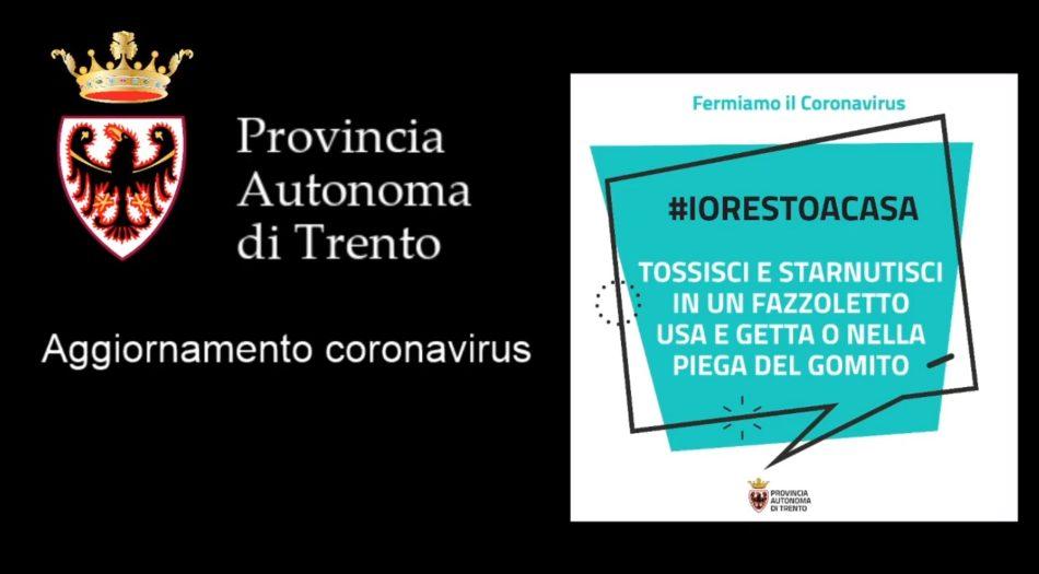 Coronavirus: purtroppo crescono moltissimo i nuovi casi in Trentino. Uno dei quattro deceduti è di Pinzolo