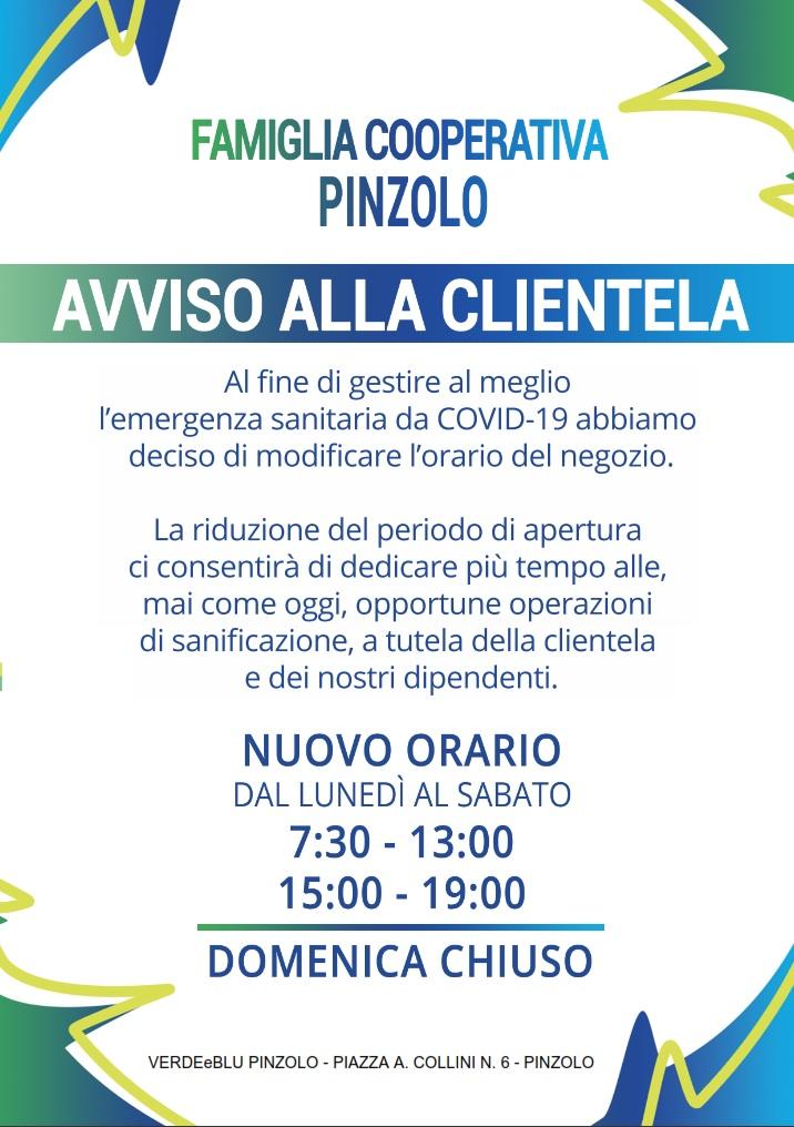 Famiglia Cooperativa: NUOVI ORARI del negozio Verde e Blu di Pinzolo