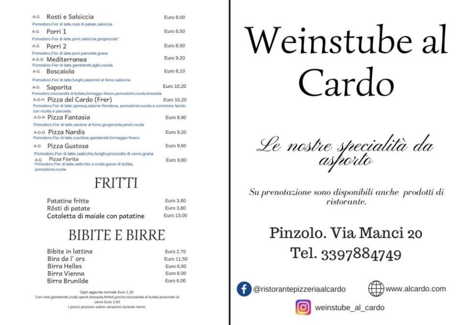 Ristorante Pizzeria Weinstube Al Cardo