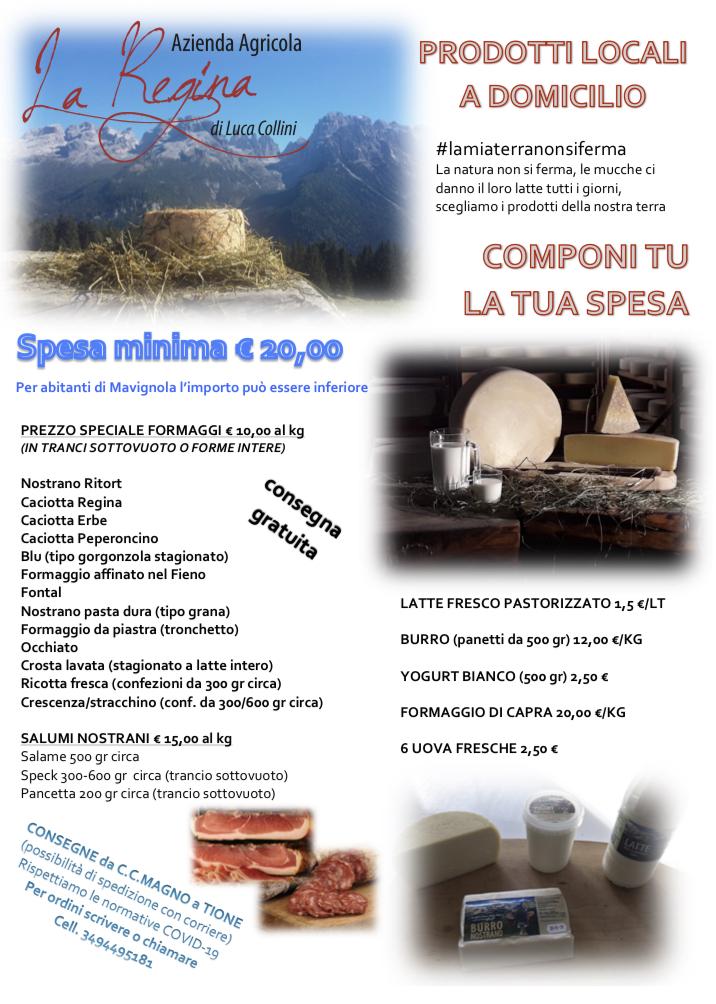 Azienda Agricola La Regina: prodotti locali a domicilio