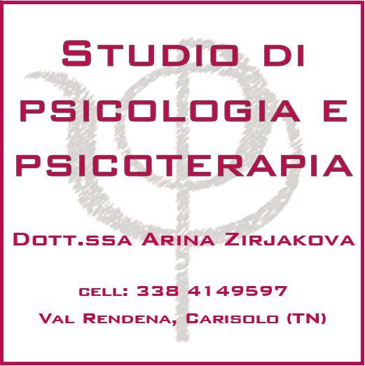 Da questa settimana ha ripreso la sua attività lo studio della dott.ssa Arina Zirjakova – psicologa e psicoterapeuta a Carisolo