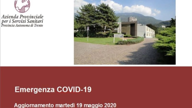 Coronavirus: dieci contagiati e due decessi oggi in Trentino