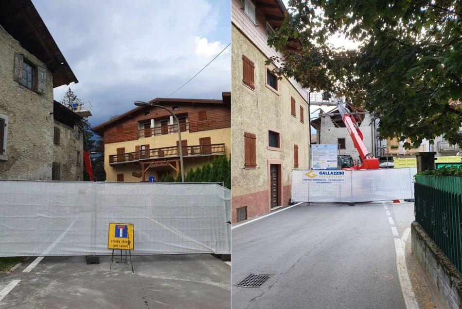 Pinzolo: iniziate le opere di demolizione dell'edificio in via Genova