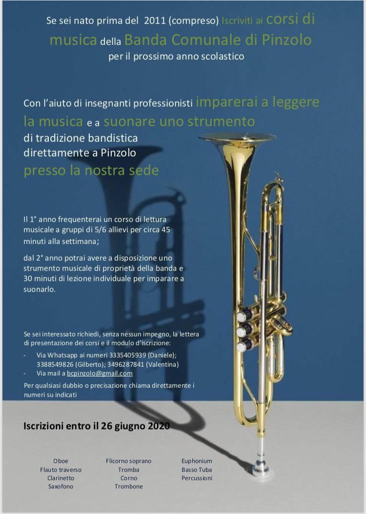 Le iscrizioni per i corsi musicali sono aperte – Banda Comunale di Pinzolo