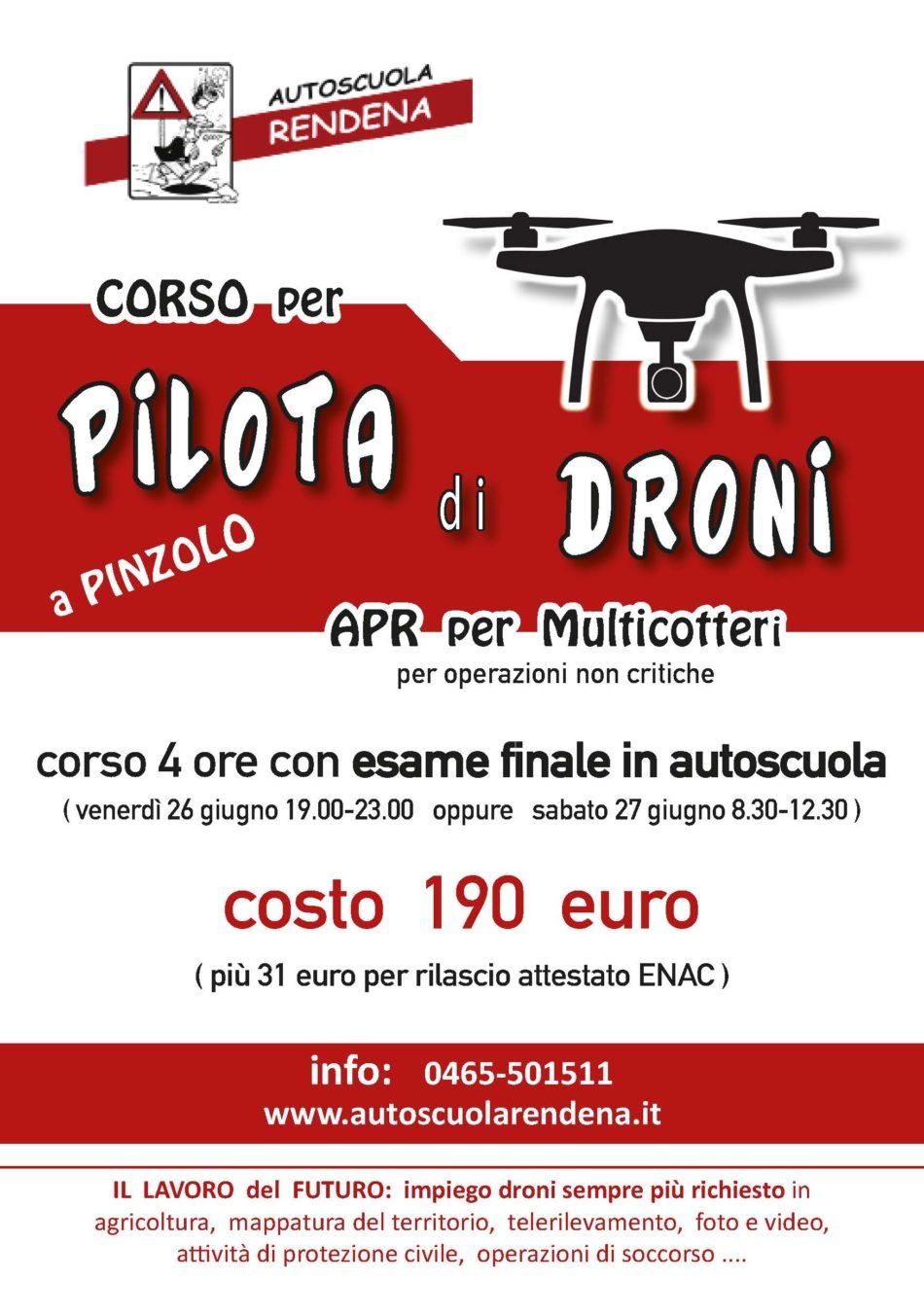 Autoscuola Rendena – Corso teorico per diventare pilota di droni