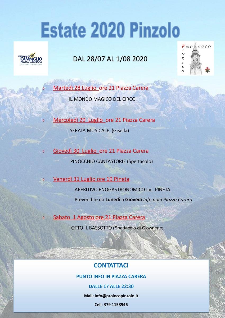 Estate 2020 Pinzolo – Dal 28 luglio al 1 agosto
