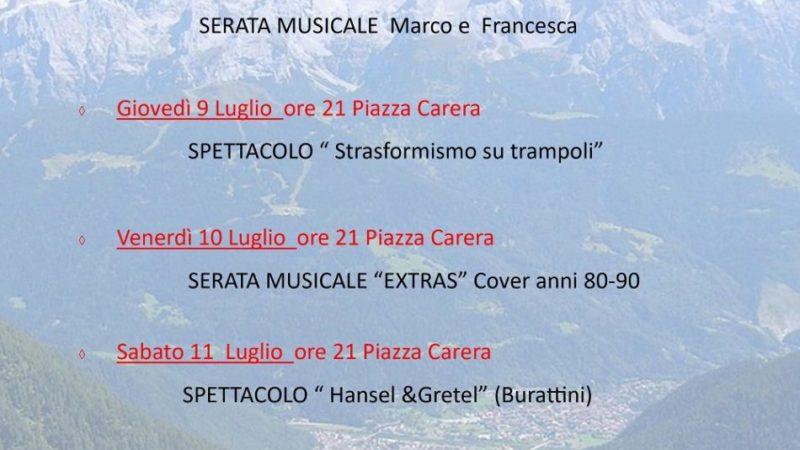 Programma Estate 2020 Pinzolo: settimana dal 6 al 12 luglio 2020