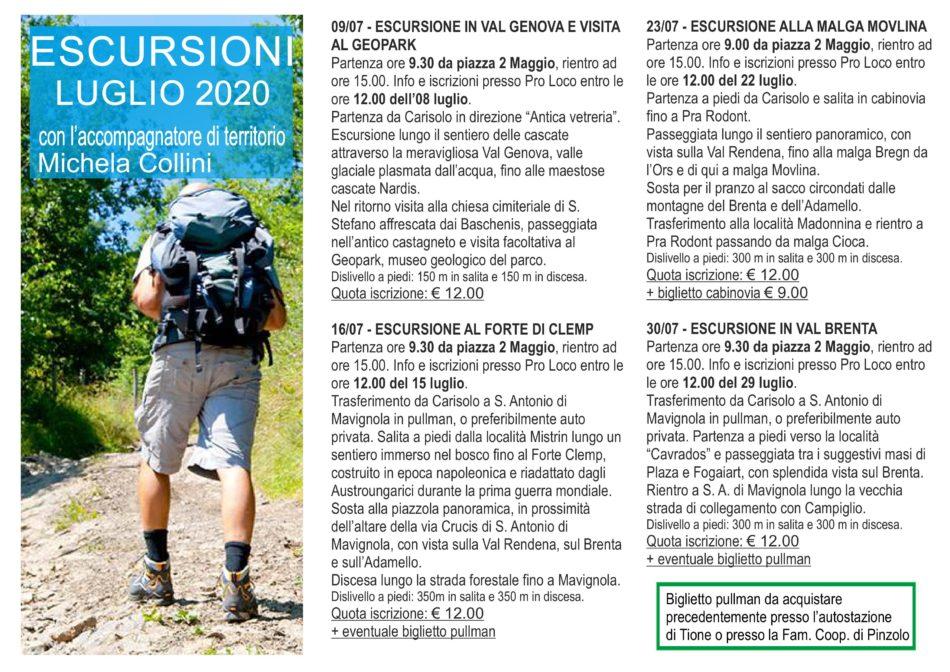 Escursioni con Michela Collini – estate 2020