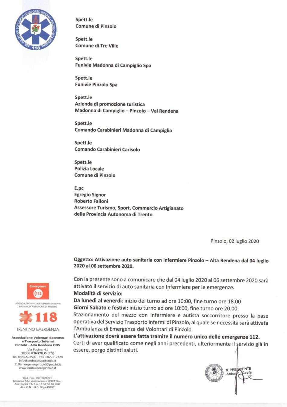 Volontari Soccorso e Trasporto Infermi Pinzolo - Alta Rendena