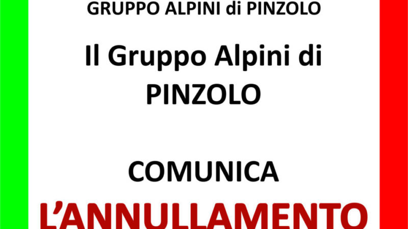 Alpini Pinzolo: annullamento delle feste a Patascoss e Bedole