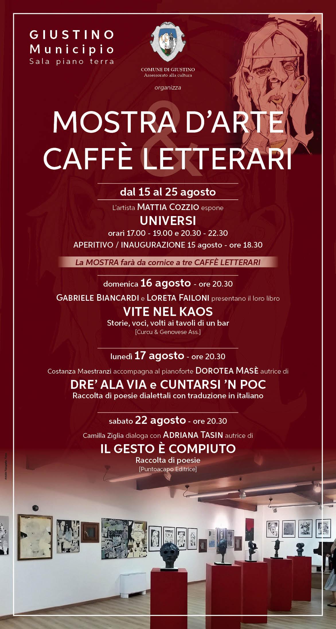 Giustino: Mostra d'arte – Caffè letterari