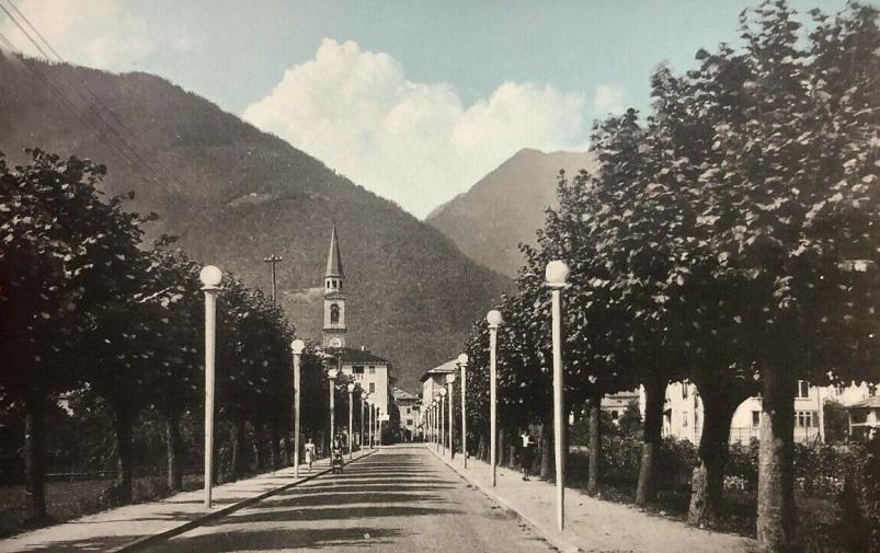 Il viale di Pinzolo nel corso del tempo